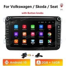 Android 10 2din Car Radio for VW POLO GOLF 5 6 POLO PASSAT B6 CC JETTA TIGUAN TOURAN EOS SHARAN SCIROCCO CADDY with 4G GPS Navi
