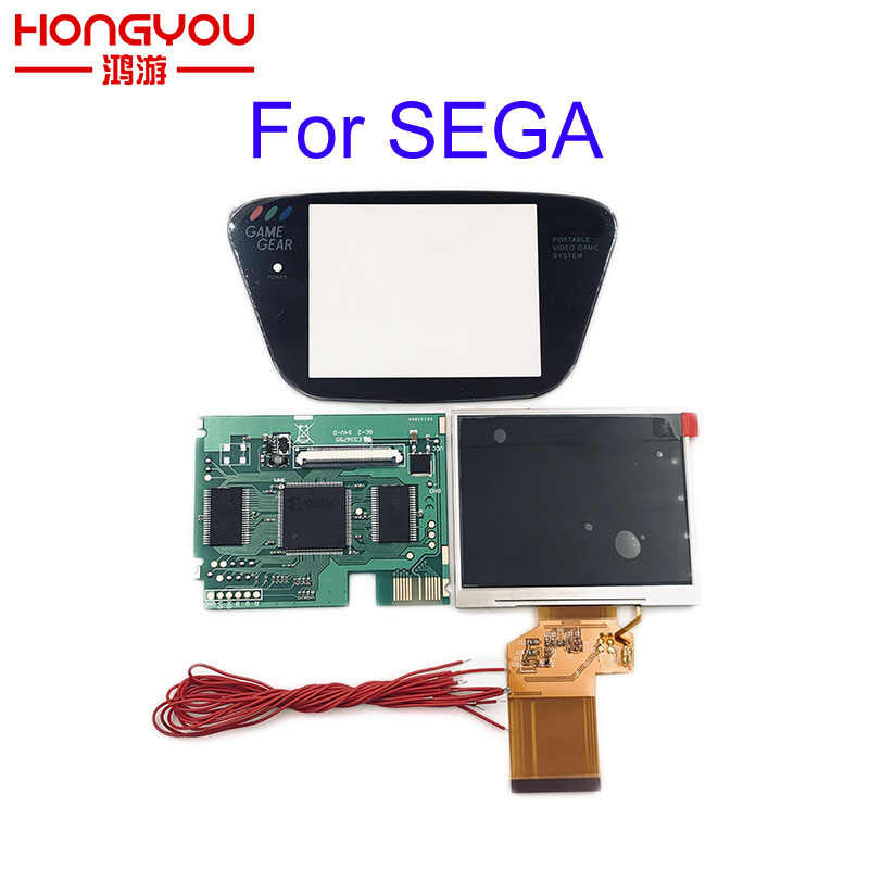 For Sega Game Gear HighLit Full Display LCD Screen Support VGA Out Mod Kit From 3.2in To 3.5inch