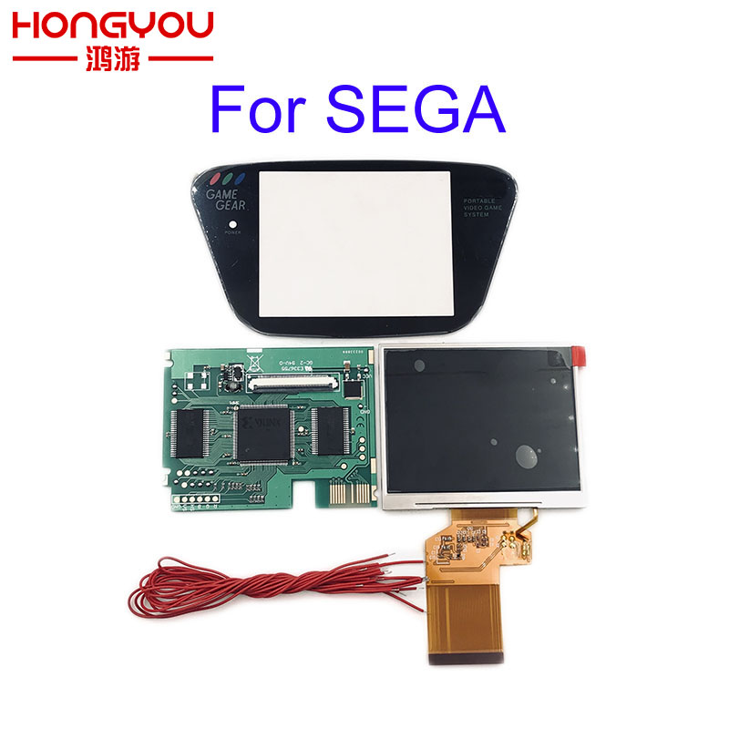 For Sega Game Gear HighLit Full Display LCD Screen Support VGA Out Mod Kit From 3.2in To 3.5inch(China)
