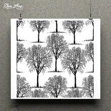 Zhuoang осенний лесной дизайн штамп/резиновый штамп для скрапбукинга/прозрачный