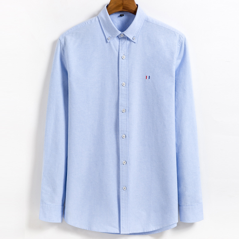 2019 Men Fashion Casual Long Sleeved Shirt Slim Fit Male Social Business Dress Shirt Brand Men Clothing Y1970