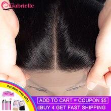 Gabrielle cheveux brésiliens droite lace closure libre/moyen/trois parties couleur naturelle 4x4 suisse dentelle haut fermeture Remy cheveux 8