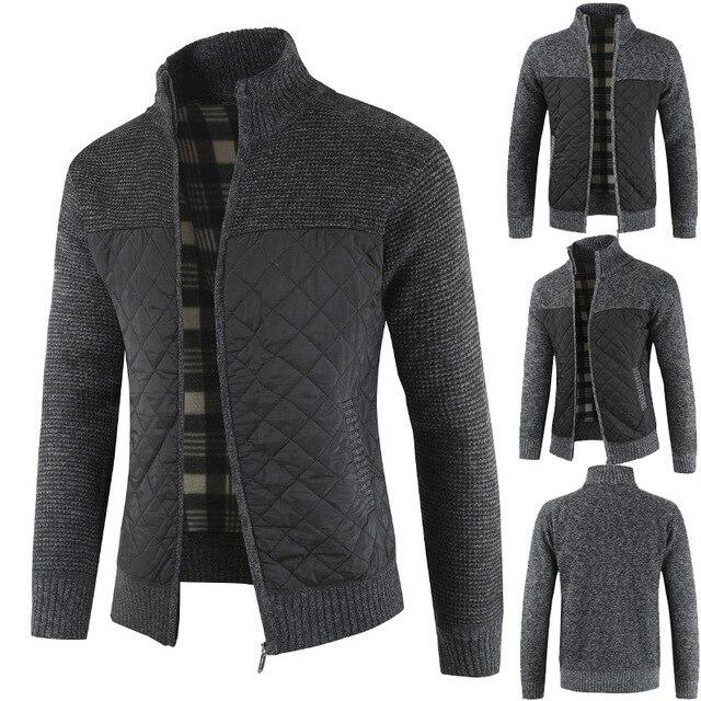 Mountainskin męskie swetry jesienno-zimowa ciepły sweter z dzianiny kurtki płaszcze kardigany odzież męska dzianina casualowa SA833