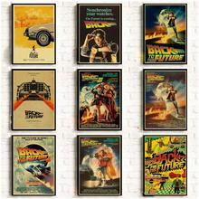 Película clásica volver al futuro carteles Vintage para hogar/Bar/decoración de la vida papel kraft etiqueta de la pared del cartel de alta calidad