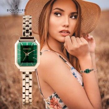 Kobiety zegarki damskie BOBO ptak часы женские moda kwarcowy zegarek pani reloj mujer urodziny rocznica prezent na walentynki