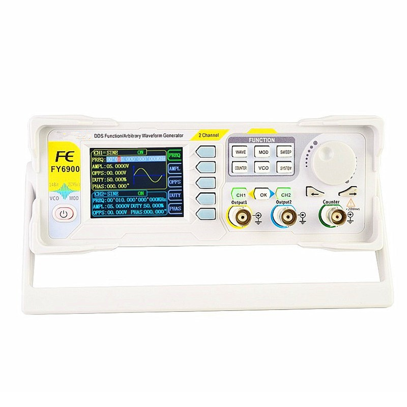 FY6900 Dual Channel DDS Arbitrary Waveform Signal Generator Pulse Signal Source Frequency Counter Numerical Control 20-60MHZ