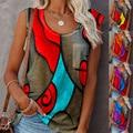 Summer Casual Women's Tank Tops Sleeveless Color Matching Fashion Top Street Hip-hop Trend Tank Tops