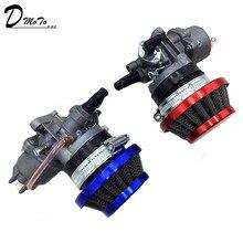Cep bisiklet 47cc 49cc motor carb için karbüratör Pod hava filtresi 2 zamanlı Mini Quad ATV Dirt Bike MiniMoto go Kart Buggy