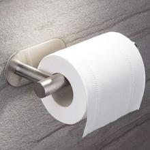 Toilet Paper Holder Stainless Steel Roll Bathroom Kitchen Clip 2019 Self-Adhesive Shelf For