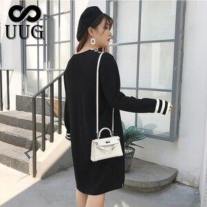 Image 3 - Uug Plus Size Nữ Thẳng Rời Cổ V Thu Đông Tay Dài Đầm Dệt Kim Vestidos XXXL XXL Áo