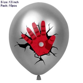 1set 3D Big Spider Supper Hero Man Mylar Foil Balloon Number Foil Balloons Birthday Party Decoration Supplies Children's Gifts 26