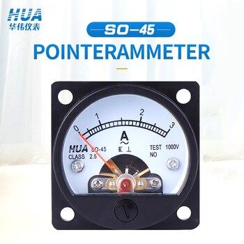 SO-45 AC amperomierz analogowy 1A 2A 3A 5A 10A 15A 20A 30A 50A itp., miernik wskaźnika/miernik prądu/miernik panelu