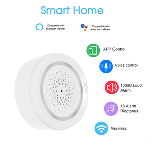 Image 2 - ワイヤレス wifi サイレンセンサー温度湿度警報スマートチュウヤサイレン amazon の google ホームアシスタント ifttt