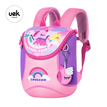 Backpack Pink Cartoon Anime Outdoor Bag Children'S School Bag Kindergarten Lightweigh Elementary  Unicorns Rainbows kindergarten anime black butler cosplay backpack anime two elementary elementary junior high school student bag girls shoulder bag backpacker