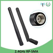 10pcs 2.4 GHz เสาอากาศ WiFi 3dBi Aerial RP SMA ตัวเชื่อมต่อชาย 2.4 GHz antena Wi Fi ANTENNA สำหรับ Wireless Router WIFI Booster