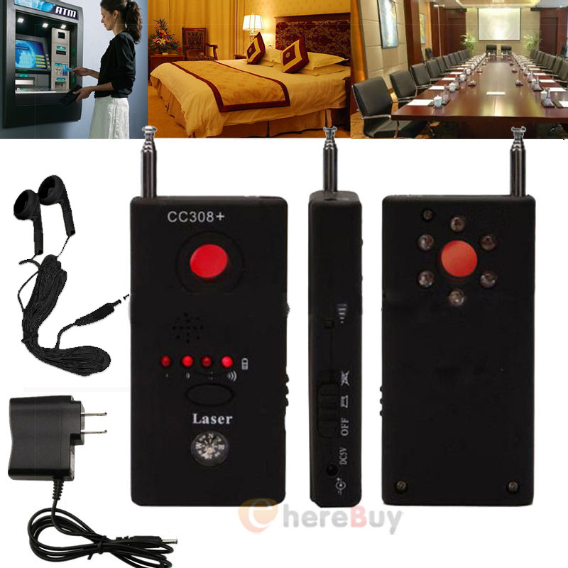 Full Range Anti-Spy Bug Detect RF Signal Detector CC308+Wireless Camera GSM Device Finder FNR Full-frequency Detector