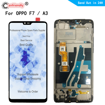 6.23 inch LCD For OPPO F7 F 7 LCD Display Screen Touch Panel Digitizer sensor with frame Assembly For OPPO A3 Full Display for oppo r15 lcd display touch screen digitizer lcd assembly for oppo r15 pacmoo cph1835 lcd