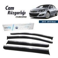 Verchroomd Rain Window Visor Wind De Deflectors Voor Opel Astra J Hb 2010 2011 2012 2013 2014 2015 piano Zwart 4 Stuks