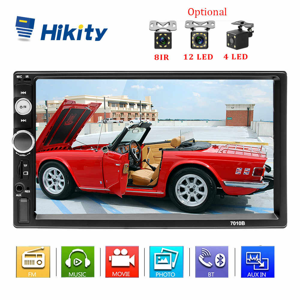"Hikity Podofo 2 din Radio coche Autoradio coche MP5 reproductor Multimedia 7 ""HD Android espejo enlace TF Buletooth receptor soporte Cámara"