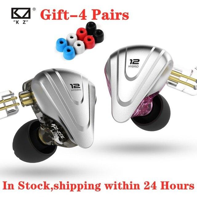 Nieuwe Kz Zsx Terminator 5BA + 1DD 12 Unit Hybrid In Ear Oortelefoon Hifi Metalen Headset Muziek Sport Oordopjes voor Zsn Zst ZS10 Pro X S1 Z