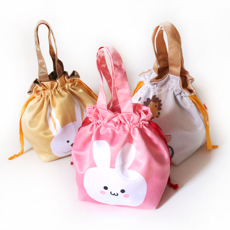 Hand Drawstring Bag Cute Bag Bento Box Bag Lunch Box Bag Cartoon Cloth Bag Storage Small Carrying Bag For A Walk Small Bag