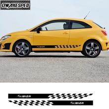 For Seat Ibiza FR TGI ST TSI Cupra Car Door Skirt Stickers Sport Styling Body Decor Vinyl Decal Both Side Racing Stripes