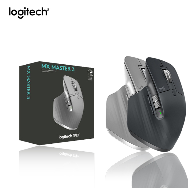 Logitech MX Master 3 Wireless Bluetooth Office Mouse With Wireless 2.4G Multi-Device Ergonomic For Gamer Overwatch DOTA PUBG LOL image
