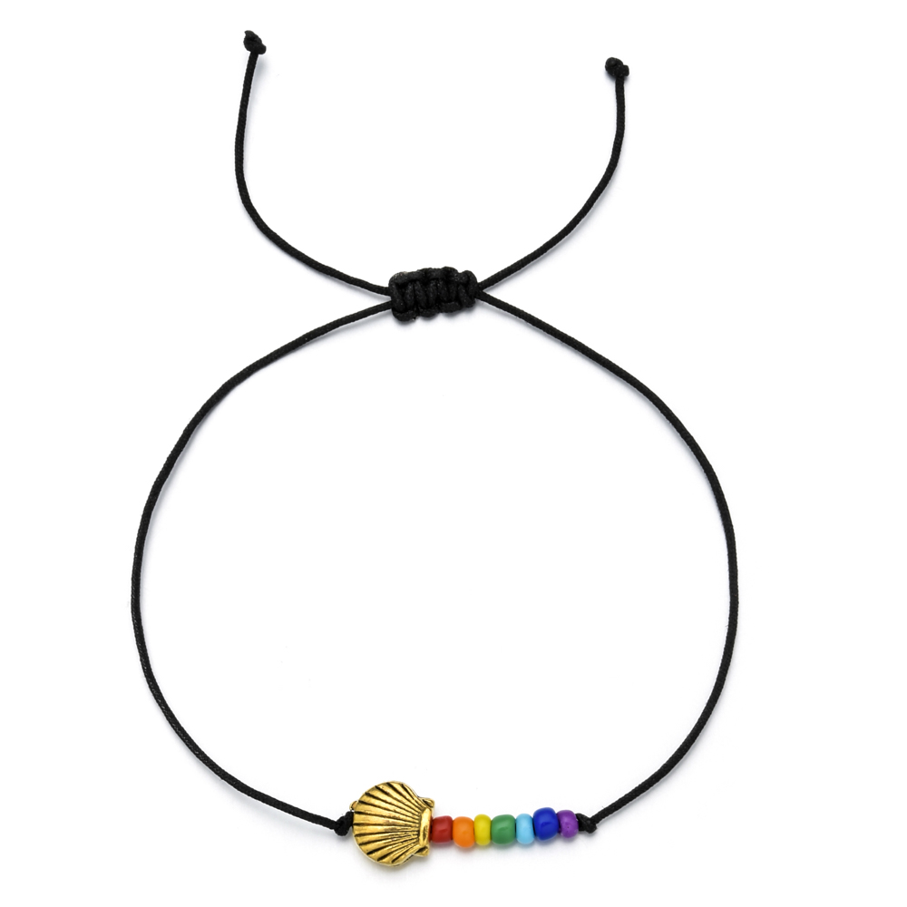 ZMZY Bohemian Spring Bloom Cute Charm Bracelet Flower Heart Shell Beads Bracelets for Women Kids Fashion Boho Jewelry Gifts