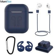 Pokrowiec silikonowy do Apple Airpods Air Pods 2 1 i60 i80 TWS etui z funkcją ładowania Anti lost pasy słuchawka Protector WatchBand Holder