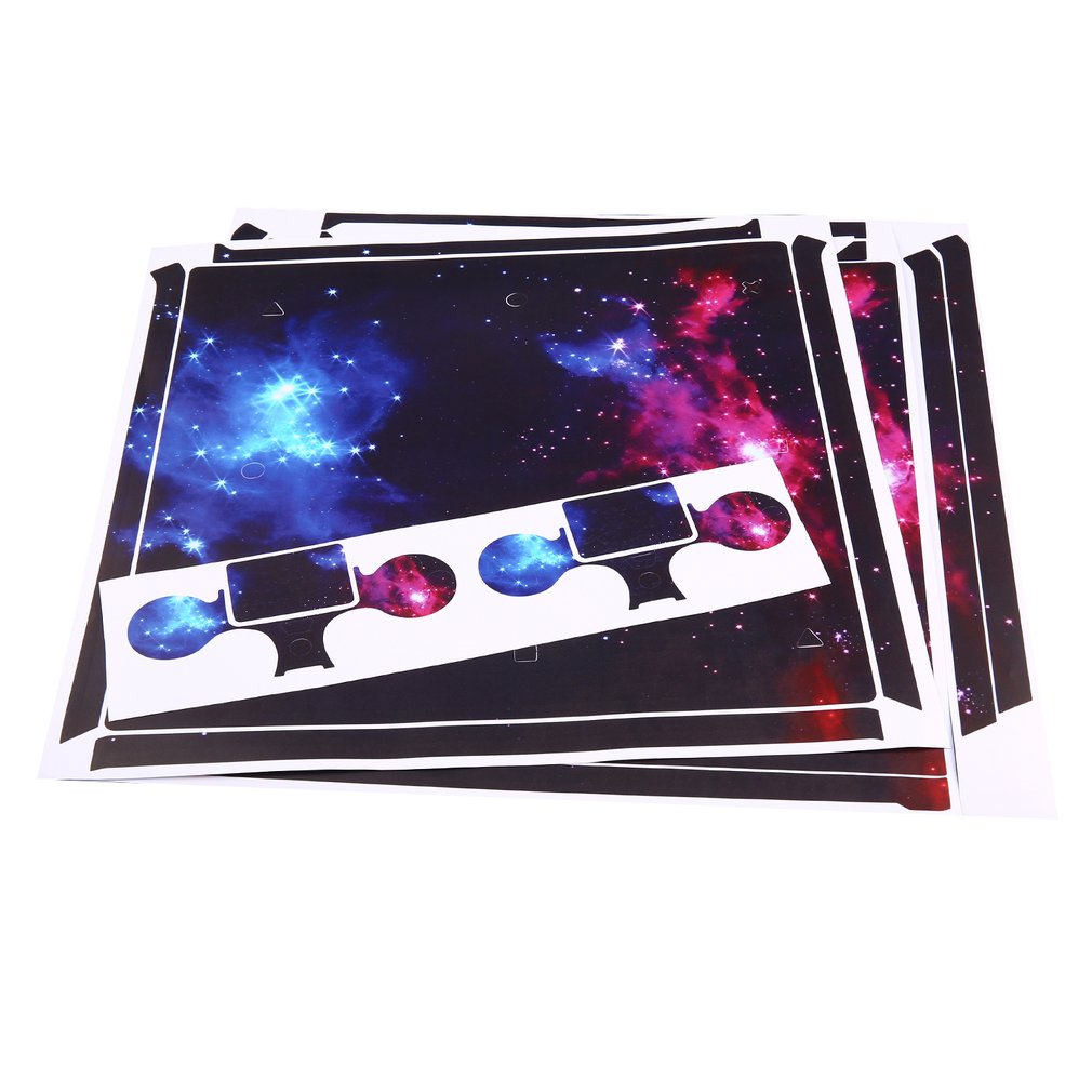 Waterproof Whole Body Vinyl Skin Sticker Decal Cover for Sony PS4 Pro Console and 2Pcs Controllers Protective Skins image