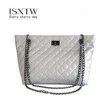 ISXTW Women Shoulder Leather Bag Fashion Handbag Retro Embossing Ladies Large Tote Purse Handbag/B19