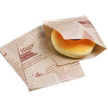 100 шт 12x12 см сэндвич пончик, хлеб мешок печенье пончик бумажные пакеты маслостойкие хлеб ремесло хлебобулочные продукты упаковка крафт