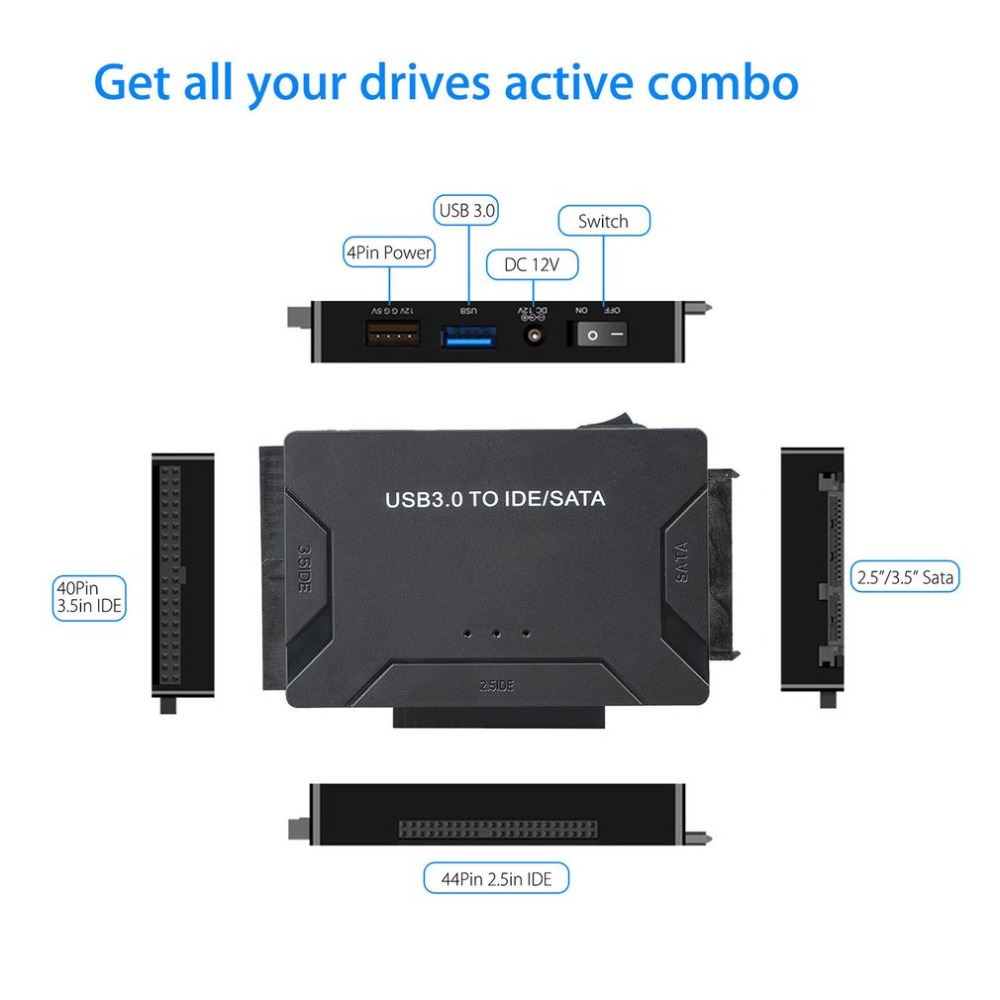 USB 3 0 To IDE SATA Converter Super 5Gbps Transfer External Hard Drive Adapter Kit Plug Play Support Up To 4TB Drives in Computer Cables Connectors from Computer Office