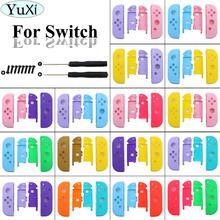 YuXi pour interrupteur nintention NS Joy Con boîtier de remplacement couvercle de coque pour NX pour JoyCons coque de manette et vis de tournevis