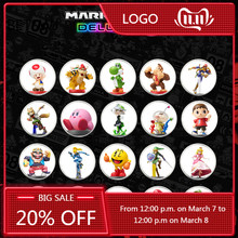 Conjunto completo 20 Pçs/set 8 Mario Kart Jogo NFC Tag Cartão De Coleção de Moedas Ntag215 Impresso Etiqueta NFC Tag NS/Switch/Wii U