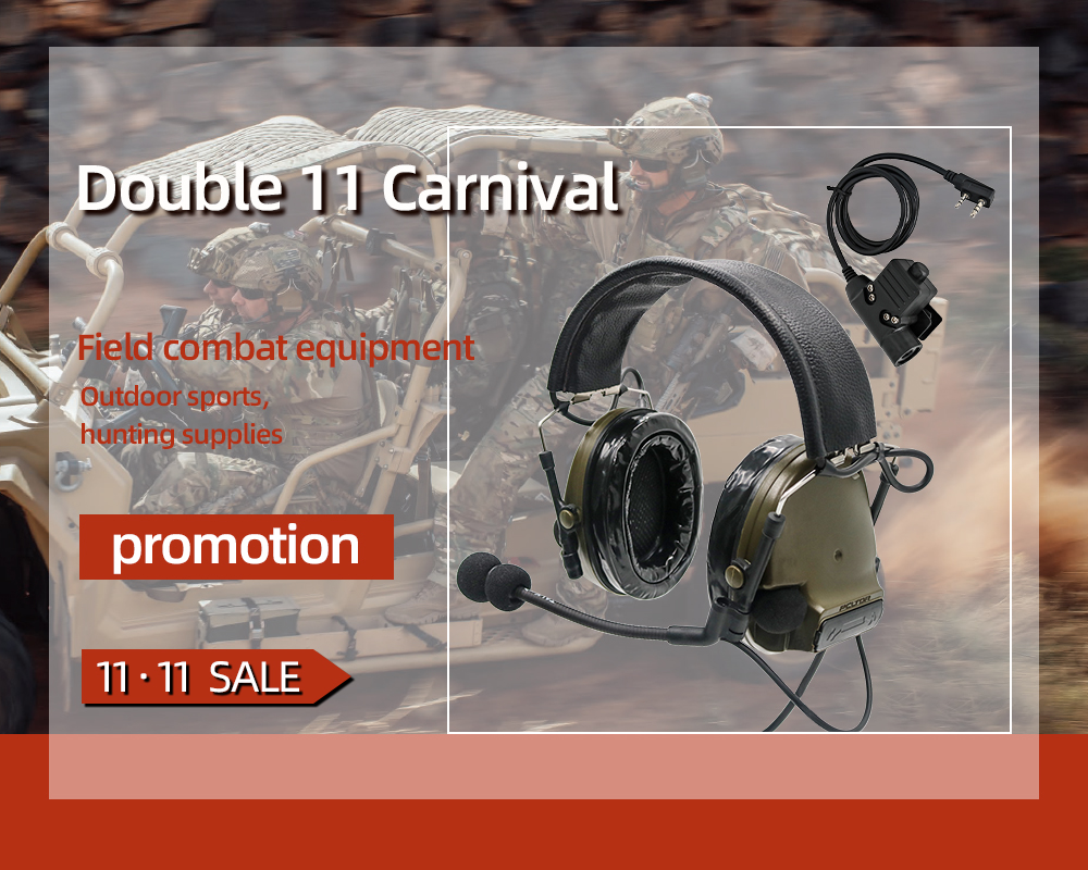 TAC SKY military adapter KENWOOD U94 PTT + COMTAC III silicone earmuffs noise reduction pickup tactical headset FG-in Intercom Accessories from Security & Protection