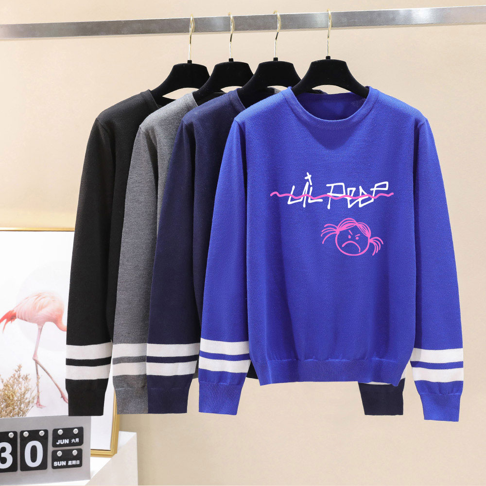 New Fashion Lil Peep Sweater 2019 Autumn Men/Women Sweater O-Neck Knittwear Unisex Lil Peep Sweaters Pullovers Women Pull Homme