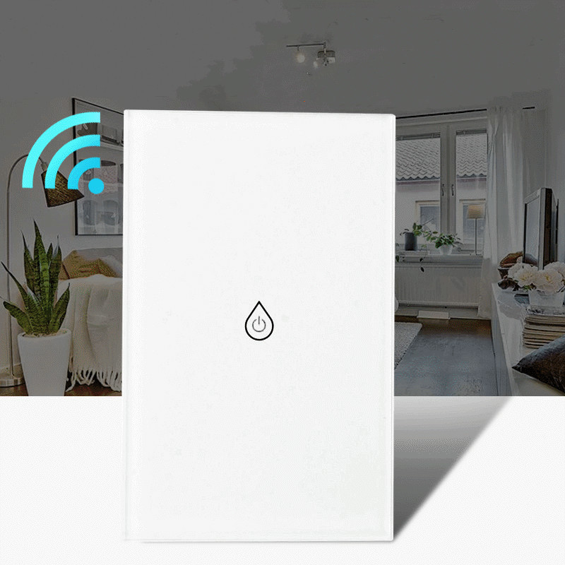 US Wifi Boiler Smart Switch Water Heater Switches Voice Timing Remote Control Standard Touch Panel Timer Outdoor Work