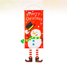 Door Hanging Christmas Snowman Printed Ornament Home Decoration Party Supplies (Snowman Random Style)