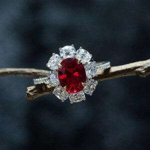 Image 3 - · ウォン雨ヴィンテージ 100% 925 スターリングシルバー作成モアッサナイト用原石の婚約指輪ファインジュエリーギフト卸売