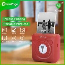 PeriPage Портативный Термальность Bluetooth принтер/портативный принтер печатает 203 точек/дюйм 2