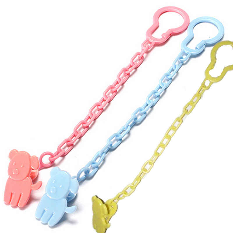 Baby Infant Dummy Pacifier Soother Chain Clip Holder Toddler Toy Gift Free Shipping