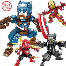 The Avengers Marvel Thor 3 Infinity War Compatible Legoed SpiderMan IronMan Building Block Captain America MOC Brick Figure Toy(China)