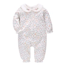 Vlinder Baby Girl Clothes Girl Rompers Spring Autumn New Born Clothes Pure cotton Flower Printing rompers Infant Rompers 6M~24M cheap Floral Turn-down Collar Single Breasted Baby Girls Full AW9234 Fits true to size take your normal size