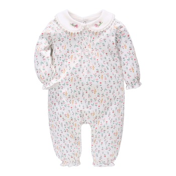 Vlinder Baby Girl Clothes Rompers Spring Autumn New Born Pure cotton Flower Printing rompers Infant 6M~24M