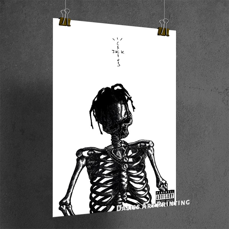 Canvas Travis Scott Cactus Jack Pictures Home Decoration Paintings Poster HD Prints Wall Art Modular Living Room Framed