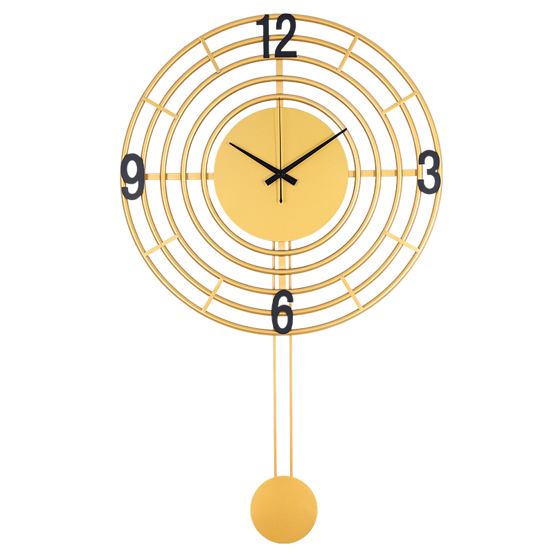 Large Gold 3d Wall Clock Metal Modern Living Room Bedroom Silent Creative Luxury Wall Clocks Watch Home Horloge Mural Gift FZ619
