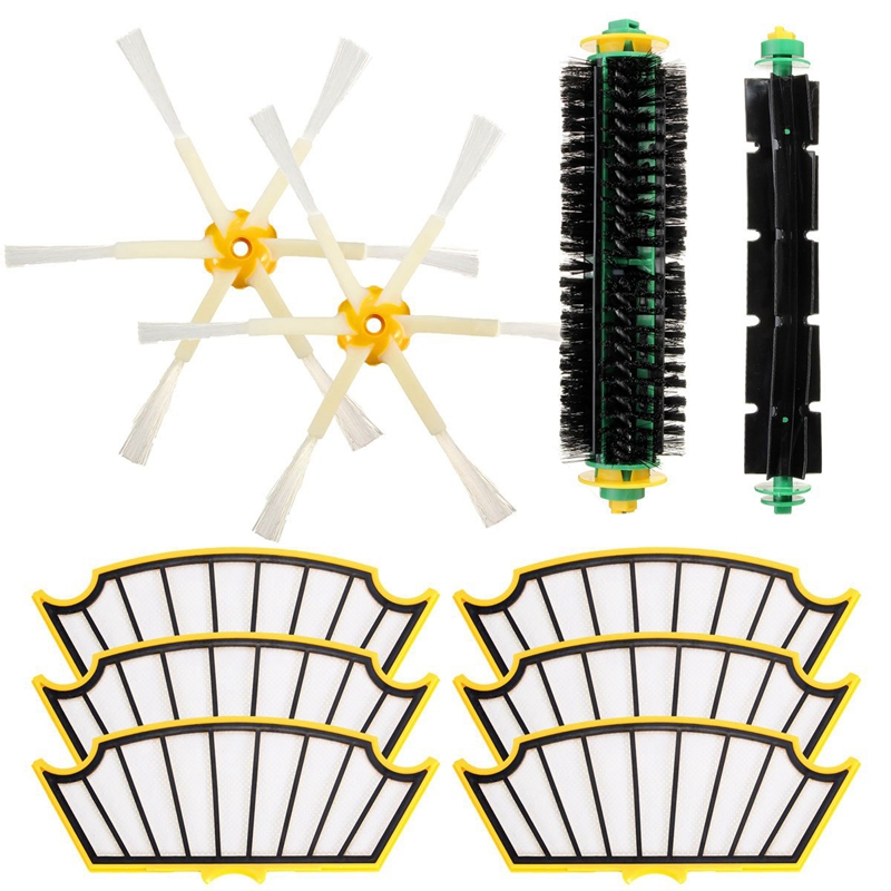 Replacement Filter Brush Round Cleaning Tool Accessories Kit For Irobot Roomba 500 Series 510 530 540 550 560 580 570