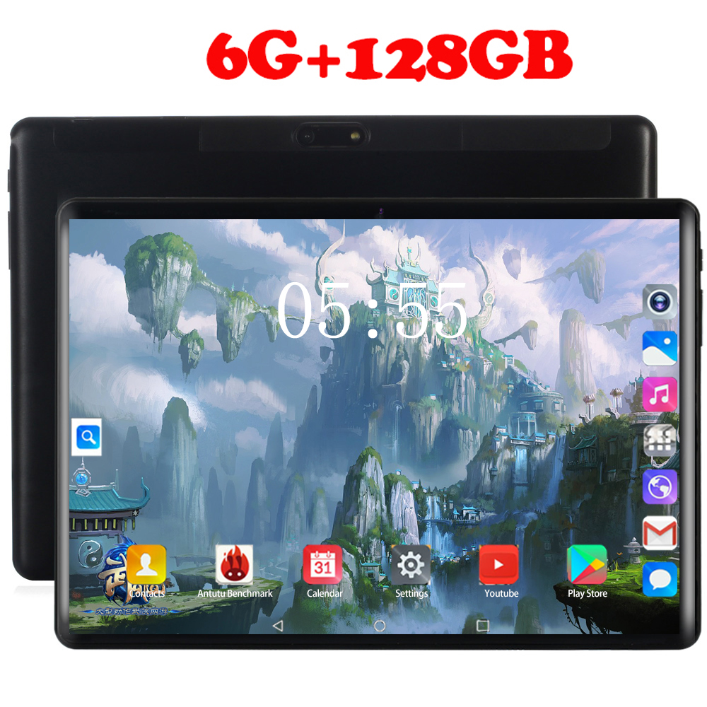 2020 1920*1200 2.5D Tempered Glass 5000mAh Power 10 Inch 10 Core 4G FDD LTE Tablets 6GB RAM 128GB ROM Android 8.0 Tablet 10.1