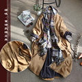 Spring Autumn New Arrival Women Loose Plus Size All-match Long Japanese Style Asymmetrical Pockets Comfortable Linen Coat Trench